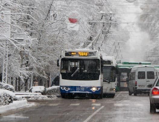 Общественный транспорт работает в штатном режиме